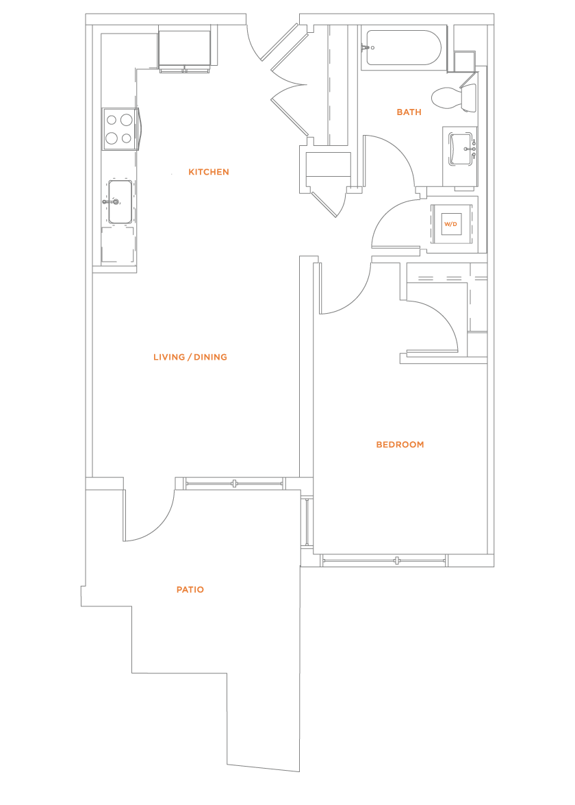 floorplan drawing for unit 414
