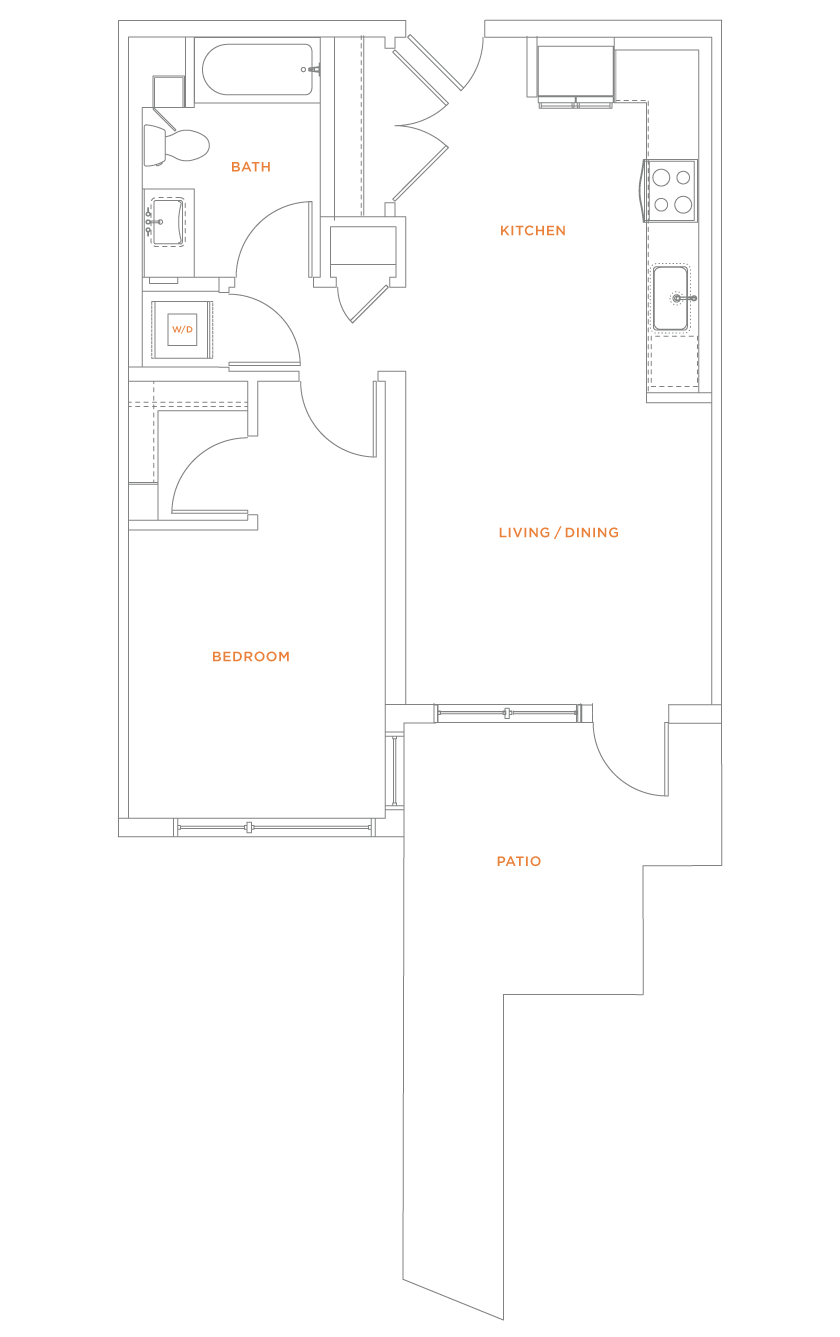 floorplan drawing for unit 416