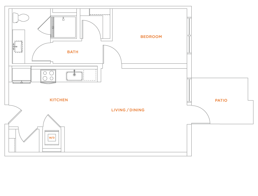 floorplan drawing for unit 405
