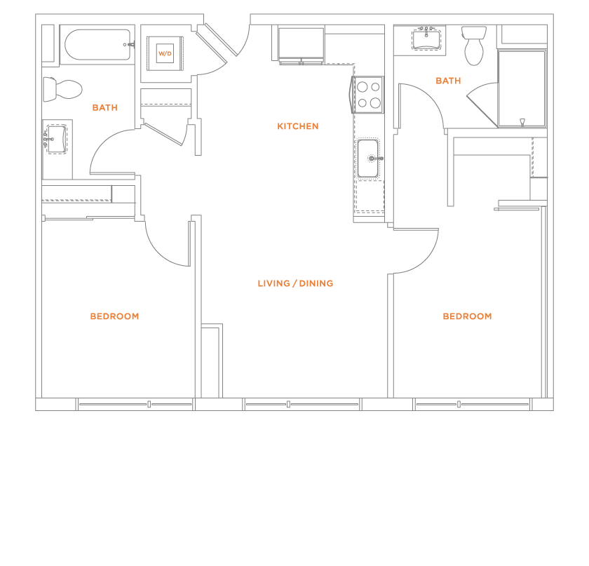 floorplan drawing for unit 309