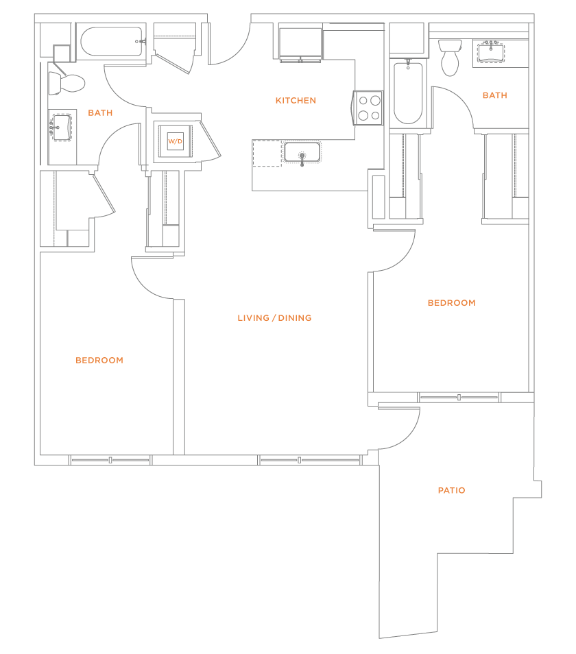 floorplan drawing for unit 412