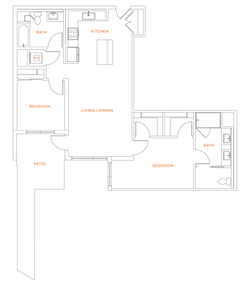 floorplan drawing for unit 418