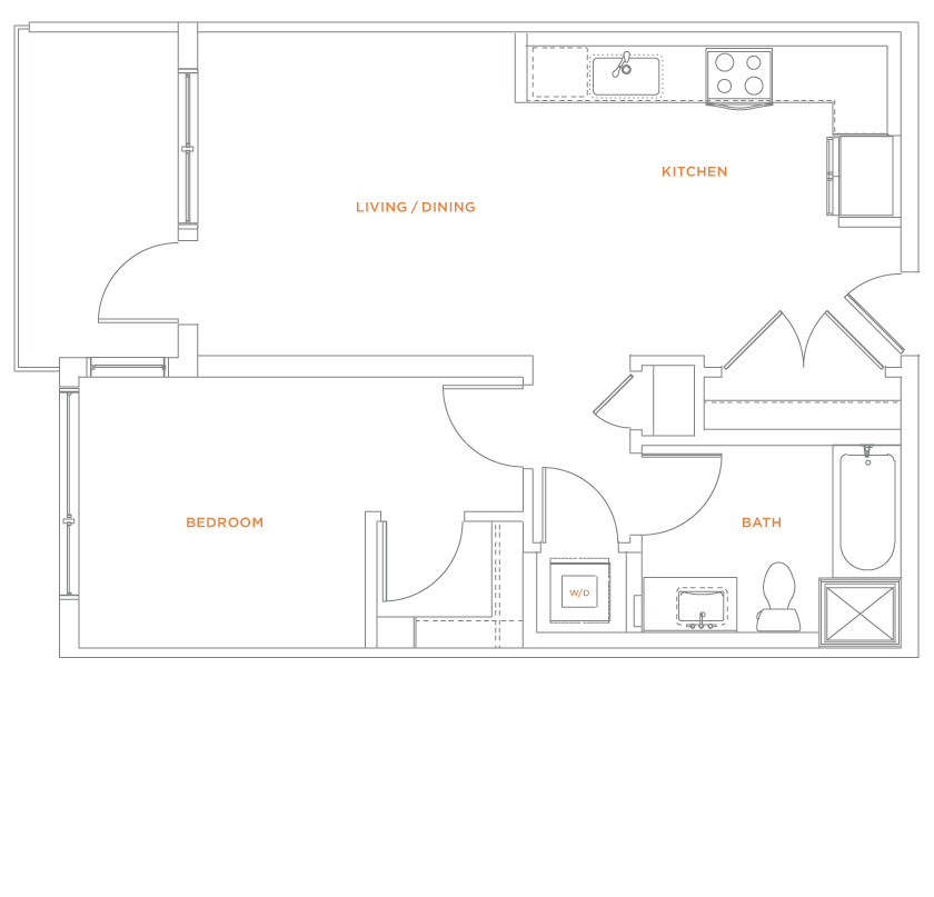floorplan drawing for unit 504