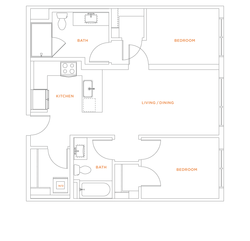 floorplan drawing for unit 805