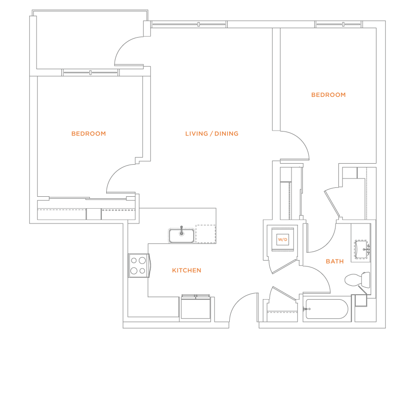 floorplan drawing for unit 611