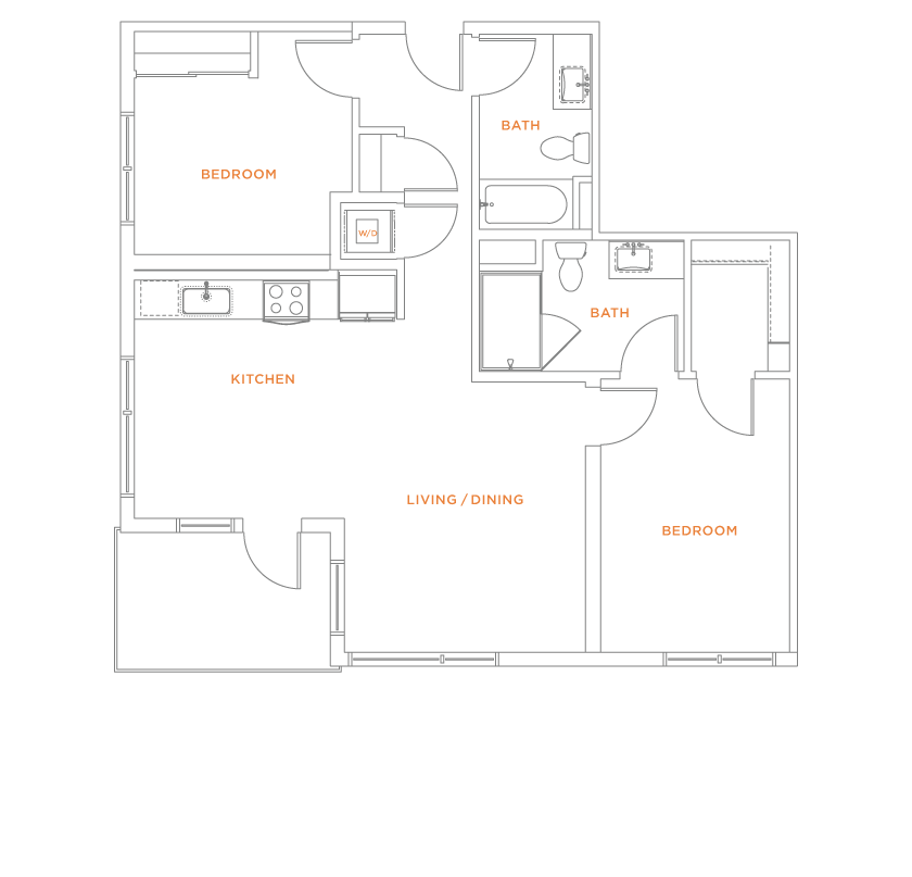 floorplan drawing for unit 522