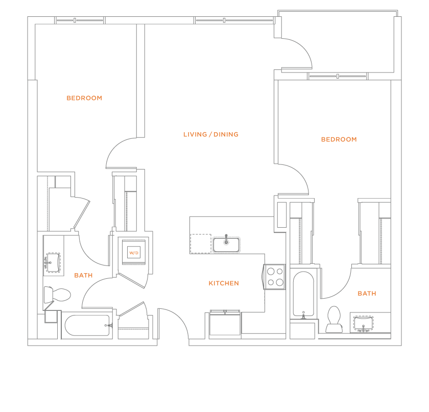 floorplan drawing for unit 417