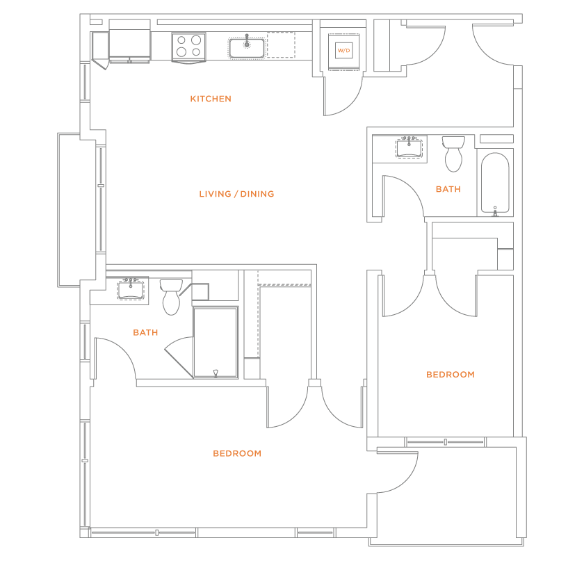 floorplan drawing for unit 306