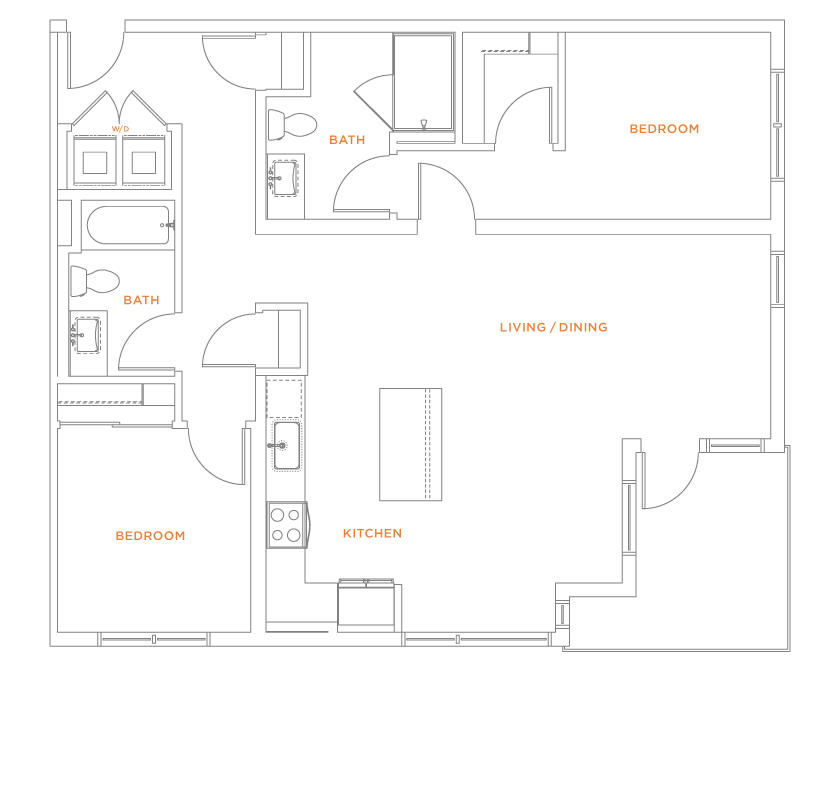 floorplan drawing for unit 607