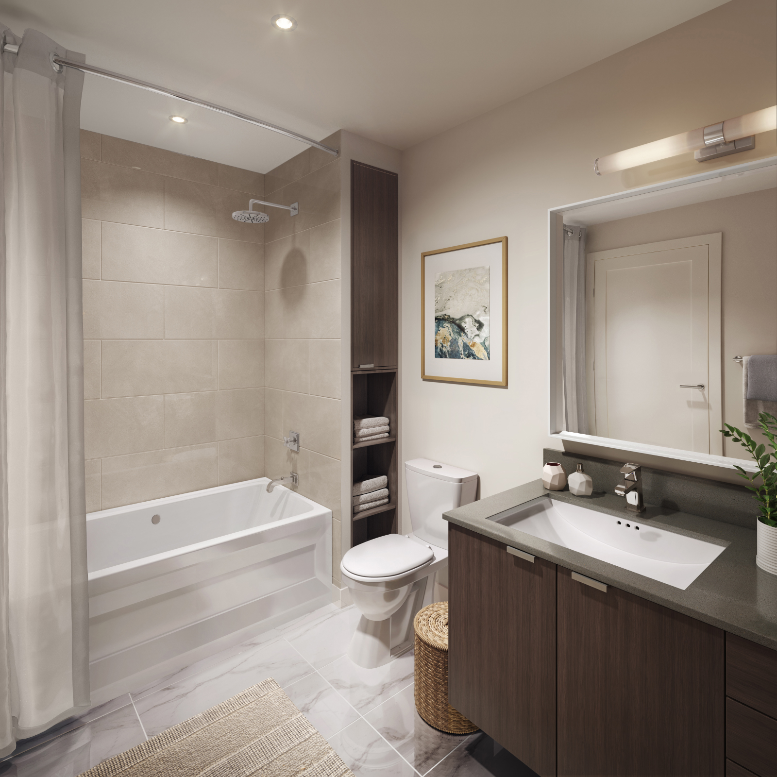 Large bathrooms in The Linden Condos