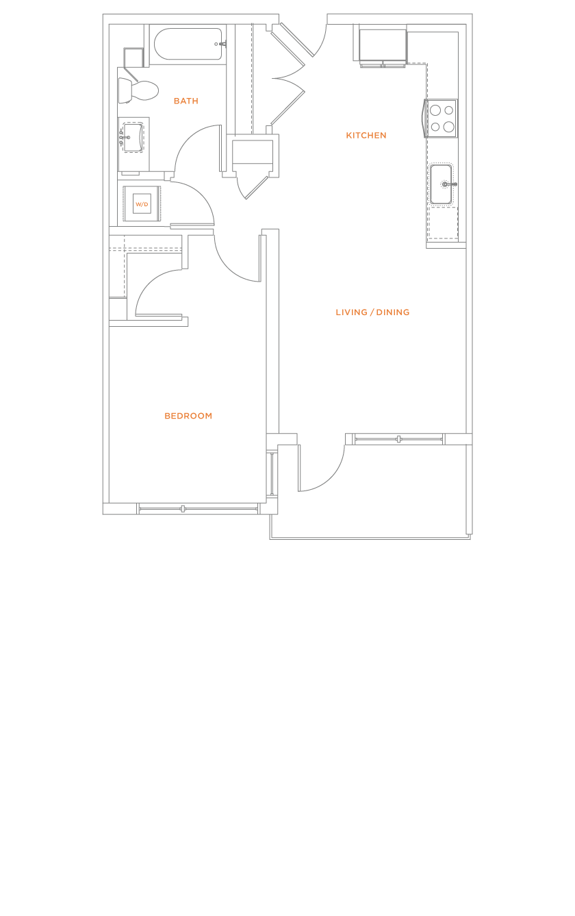 floorplan drawing for unit 716